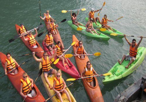 Kayaking On Halong Bay-Huong Hai Sealife Cruise